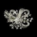 Elegance by Carbonneau Brooch-179-AS-Clear Antique Silver Clear Rhinestone Bow Tie Brooch 179