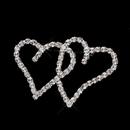 Elegance by Carbonneau Brooch-192-AS-Clear Antique Silver Clear Rhinestone Heart Brooch 192