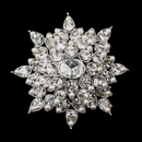 Elegance by Carbonneau Brooch-200-AS-White Antique Silver Clear Rhinestone and White Pearl Brooch 200