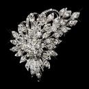 Elegance by Carbonneau Brooch-205-AS-Clear Antique Silver Clear Rhinestone Brooch 205