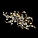 Elegance by Carbonneau Brooch-23-G-Clear Gold Brooch 23