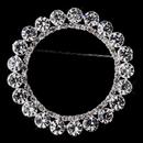 Elegance by Carbonneau Brooch-30251-S-Clear Silver Rhinestone Wreath Brooch 30251