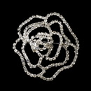 Elegance by Carbonneau Brooch-6025-S-Clear Silver Rhinestone Flower Bridal Brooch 6025