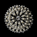 Elegance by Carbonneau Brooch-65-AS-DW Brooch 65 Antique Silver Diamond White