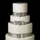Elegance by Carbonneau Cake-Brooch-124 Decorative Silver Clear Rhinestone & Ivory Pearl Butterfly Brooch 124