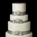 Elegance by Carbonneau Cake-Brooch-140 Decorative Silver Clear Floral Star Brooch 140