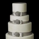 Elegance by Carbonneau Cake-Brooch-164 Decorative Antique Silver Clear Rhinestone Round Brooch 164