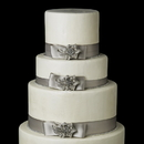 Elegance by Carbonneau Cake-Brooch-16 Decorative Antique Silver Clear Rhinestone Floral Brooch 16