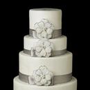 Elegance by Carbonneau Cake-Brooch-41 Decorative Silver Ivory Beaded Clear Rhinestone & Pearl Flower Brooch 41
