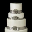 Elegance by Carbonneau Cake-Brooch-65 Decorative Antique Silver Ivory Pearl Round Sunburst Brooch 65