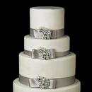Elegance by Carbonneau Cake-Brooch-84 Decorative Antique Silver Clear Princess & Pear Crystal Brooch 84
