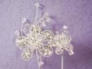 Elegance by Carbonneau CJ-1 Double Flower Cake Jewelry Accent CJ1