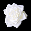 Elegance by Carbonneau clip-401-white Rose Bud Bridal Flower Hair Clip 401 White, Ivory or Red