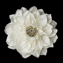 Elegance by Carbonneau Clip-436-Ivory-Gold Ivory or Diamond White Gold Bridal Flower Hair Clip 436