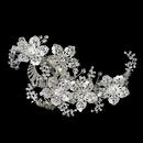 Elegance by Carbonneau Clip-486-S-Clear Silver Clear Swarovski Crystal Bead, Rhinestone & Sequin Flower Hair Clip 486