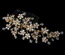 Elegance by Carbonneau Comb-001-G Swarovski Crystal Bridal Comb 001 Gold