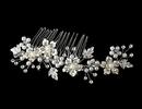 Elegance by Carbonneau Comb-039 Rhinestone & Pearl Bridal Comb 039