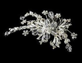 Elegance by Carbonneau Comb-1852 Crystal Boutique Bridal Comb 1852