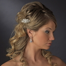 Elegance by Carbonneau Comb-6287-Silver Petite Silver Tiara Bridal Comb w/ Clear Rhinestones & Austrian Crystals 6287