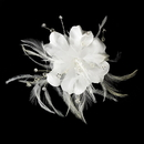 Elegance by Carbonneau Comb-7023 Bridal Feather Fascinator Comb 7023 (or Clip Brooch Option Available)