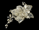 Elegance by Carbonneau Comb-8151-S Elegant Crystal & Freshwater Pearl Bridal Comb or Brooch Clip 8151