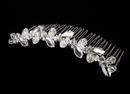 Elegance by Carbonneau Comb-8311 Beautiful Silver Clear Rhinestone & Swarovski Crystal Flower Bridal Comb 8311