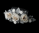 Elegance by Carbonneau Comb-8418-Ivory-Rum Chic Ivory Rum Rose Bridal Hair Comb 8418