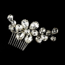 Elegance by Carbonneau Comb-9795 Glamorous Silver Clear Rhinestone Hair Comb 9795