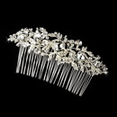 Elegance by Carbonneau Comb-9815 Vintage Silver Clear Crystal & Rhinestone Bridal Hair Comb 9815