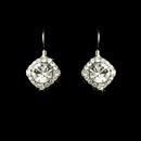 Elegance by Carbonneau E-1003-Silver-Clear Earring 1003 Silver Clear