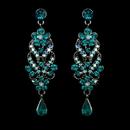 Elegance by Carbonneau E-1027-Antique-Silver-Turquoise Earring 1027 Antique Silver Turquoise