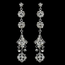 Elegance by Carbonneau E-1029-Silver-Clear Earring 1029 Silver Clear