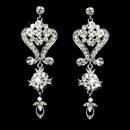 Elegance by Carbonneau E-1031-AS-Clear Beautiful Crystal Chandeleir Earrings E 1031 Silver Clear