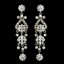 Elegance by Carbonneau e-1033-silver-clear Silver Clear Earring Set 1033