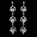 Elegance by Carbonneau Antique Rhodium Silver Clear Rhinestone Dangle Earrings 1036