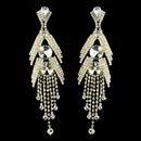 Elegance by Carbonneau E-1059-Gold Gold Clear Earring Set 1059