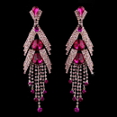 Elegance by Carbonneau E-1059-Pink Silver Pink Earring Set 1059