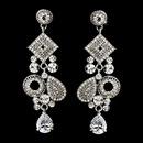 Elegance by Carbonneau E-1062-Silver Silver Clear Earring Set 1062