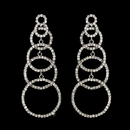 Elegance by Carbonneau e-1063-silver Silver Clear Earring Set 1063