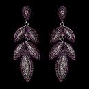 Elegance by Carbonneau e-1329-amethyst Silver Purple Earring Set 1329