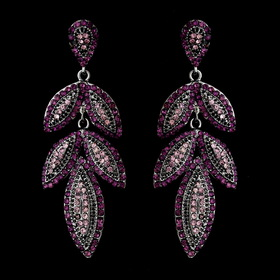 Elegance by Carbonneau e-1329-amethyst Silver Purple Earring Set 1329