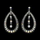 Elegance by Carbonneau e-1331-sivler-clear-ab Silver Clear AB Earring Set 1331
