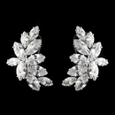 Elegance by Carbonneau Antique Silver Rhodium Clear Cluster CZ Crystal Earrings 1420