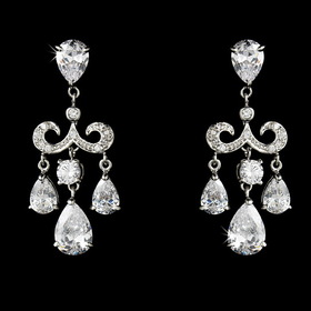 Elegance by Carbonneau E-1576-AS-Clear Gorgeous Chandelier Crystal Drop Earrings E 1576