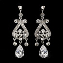 Elegance by Carbonneau E-1990-AS-Clear Antique Silver Clear Cubic Zirconia Earring Set E 1990