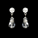 Elegance by Carbonneau E-200-Clear Clear Swarovski Crystal Bridal Earrings E 200