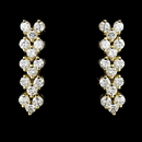 Elegance by Carbonneau E-2024-G-Clear Gold Follow Me Cubic Zirconia Earrings E 2024 G