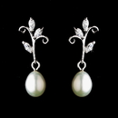 Elegance by Carbonneau E-2029-AS-Clear Antique Silver Freshwater Pearl Earring Set 2029