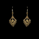 Elegance by Carbonneau E-20381-Gold-Lt-Brown Earring 20381 Gold Light Brown