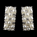 Elegance by Carbonneau E-20613-Silver-White Silver & White Pearl Clip On Earrings E 20613